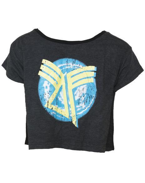 Delta Gamma Crest Cropped Tee-gallery-Adam Block Design