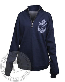 Delta Gamma Crest Strength Half-Zip-Adam Block Design