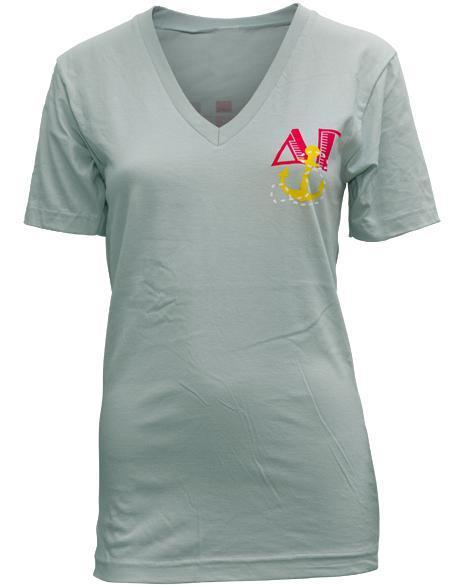 Delta Gamma Definitely DG V-neck-Adam Block Design