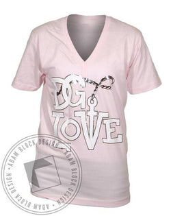 Delta Gamma DG Love Welcome Aboard V-Neck-Adam Block Design