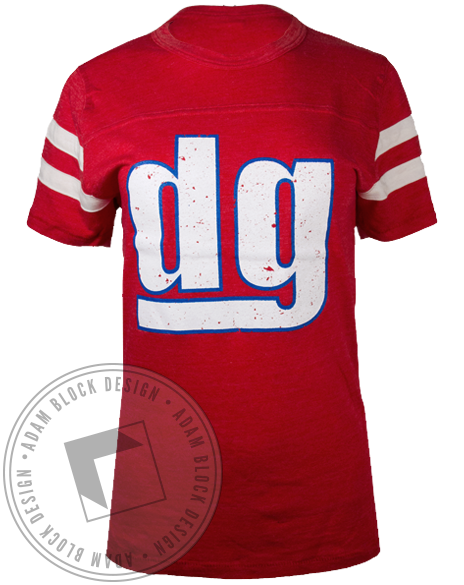 Delta Gamma Drafting Homecoming Jersey-Adam Block Design