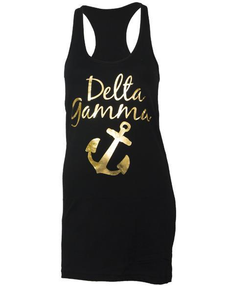 Delta Gamma Foil Anchor Dress-gallery-Adam Block Design