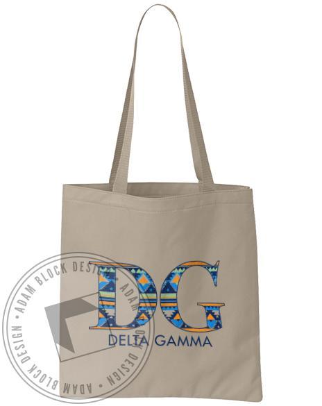 Delta Gamma Geometric Tote-gallery-Adam Block Design
