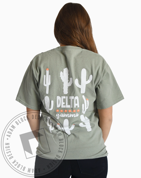 Delta Gamma Green Cacti Tshirt-gallery-Adam Block Design