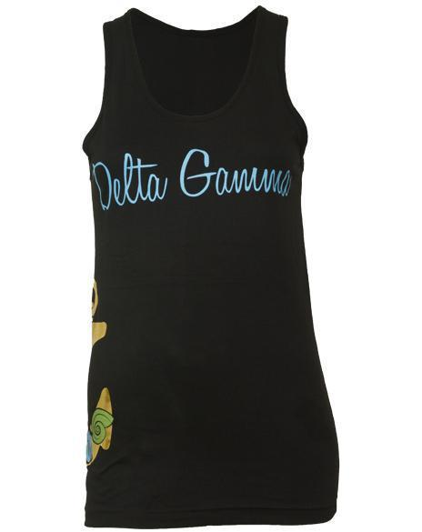 Delta Gamma Hooked on DG Tank-Adam Block Design