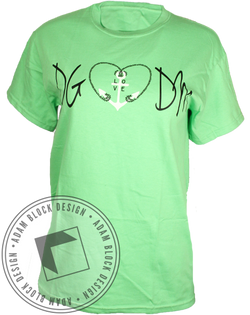 Delta Gamma Hope Strength Life Tee-Adam Block Design