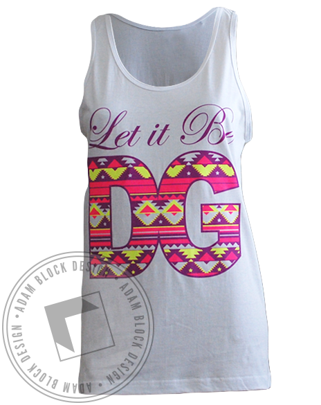 Delta Gamma Let It Be Tank-Adam Block Design