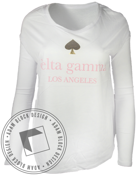 Delta Gamma Live Colorfully Longsleeve-gallery-Adam Block Design