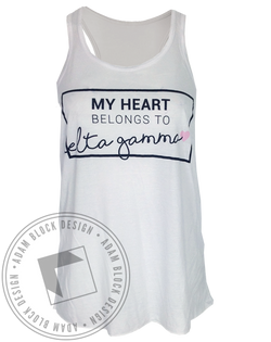 Delta Gamma My Heart Tank-Adam Block Design