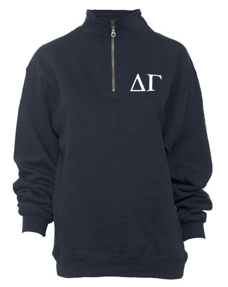 Delta Gamma Nautical But Nice Half Zip Sweatshirt-Adam Block Design