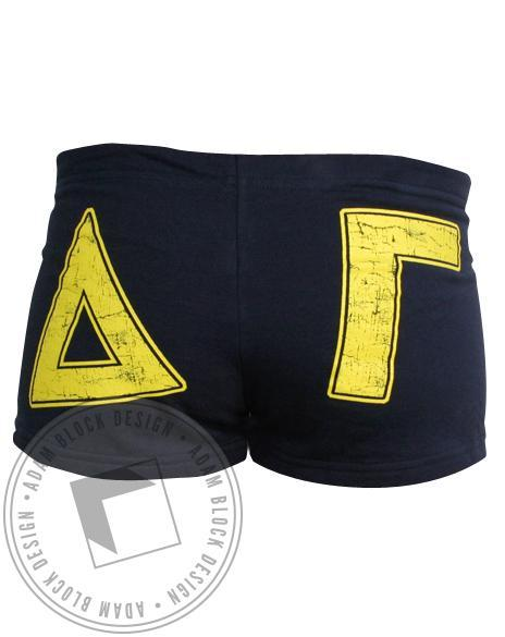 Delta Gamma Navy Shorts-gallery-Adam Block Design