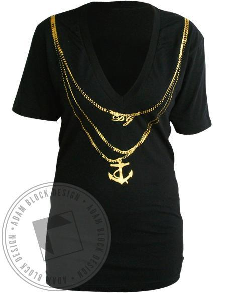 Delta Gamma Necklace V-Neck-gallery-Adam Block Design