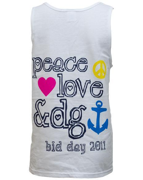 Delta Gamma Peace Love & DG tank-Adam Block Design