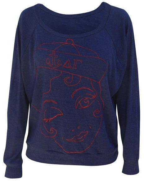 Delta Gamma Sailor Girl Longsleeve Tee-Adam Block Design