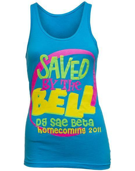 Delta Gamma Saved by the Bell Tank-Adam Block Design