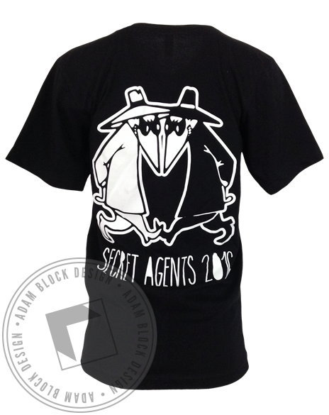 Delta Gamma Secret Agents Delta Tau Delta Pocket Tee-Adam Block Design