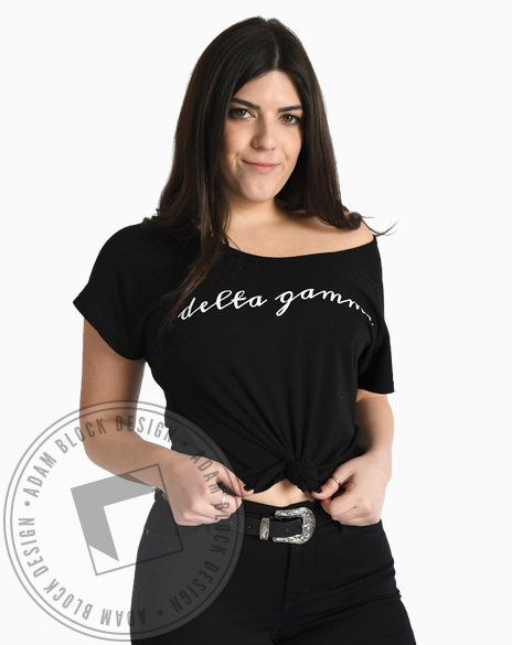Delta Gamma Simple Script Tee-gallery-Adam Block Design