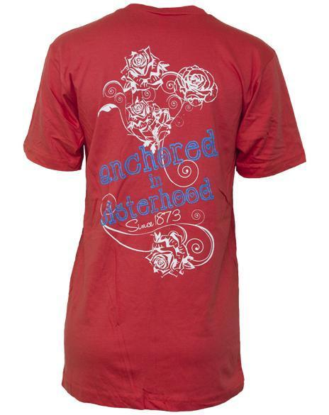 Delta Gamma Sisterhood V-Neck-Adam Block Design
