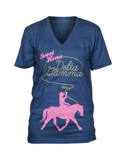 Delta Gamma Sweet Home V-Neck-gallery-Adam Block Design