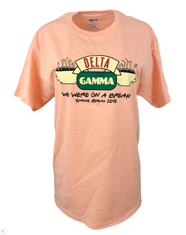 Delta Gamma We Were On Spring Break Tee-Adam Block Design