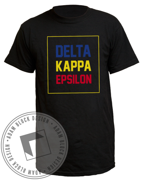 Delta Kappa Epsilon Name Tee-Adam Block Design