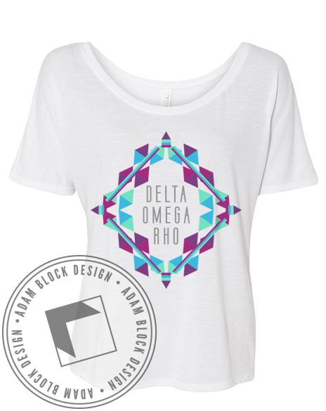 Delta Omega Rho Geometric Tee-Adam Block Design