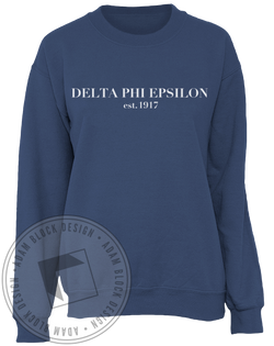 Delta Phi Epsilon 1917 Sweatshirt-Adam Block Design