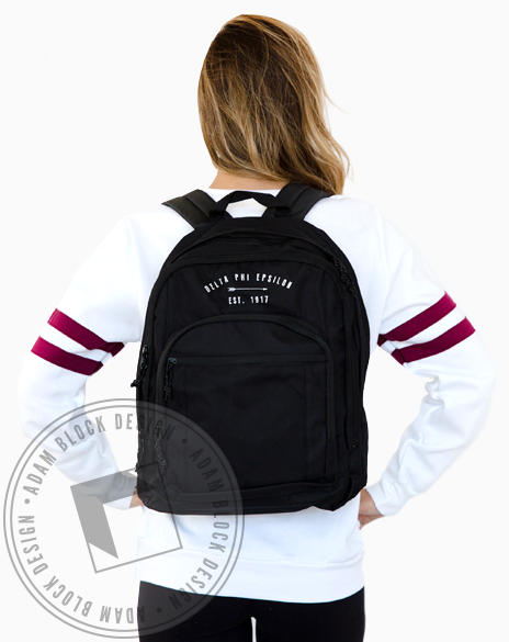 Delta Phi Epsilon Arrow Backpack-gallery-Adam Block Design