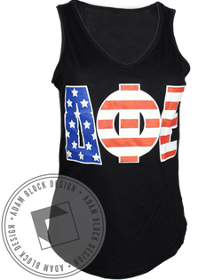 Delta Phi Epsilon Back Again Tank-Adam Block Design