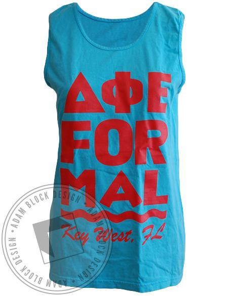 Delta Phi Epsilon Formal Key West Tee-gallery-Adam Block Design