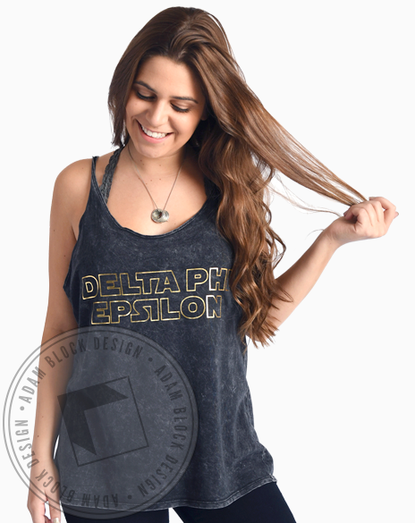 Delta Phi Epsilon Galaxy Tank-Adam Block Design