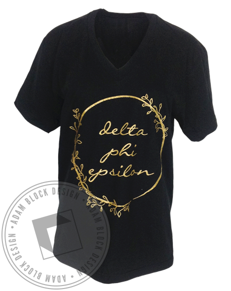 Delta Phi Epsilon Going Home Vneck-gallery-Adam Block Design