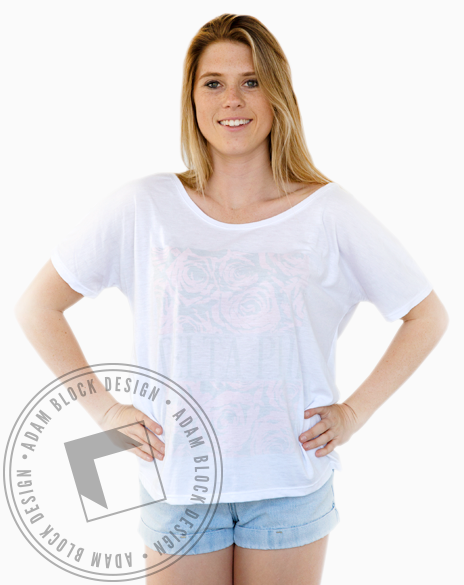 Delta Phi Epsilon Inside-Out Print Tee-Adam Block Design