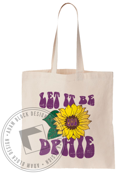 Delta Phi Epsilon Let It Be Sunflower Tote-Adam Block Design