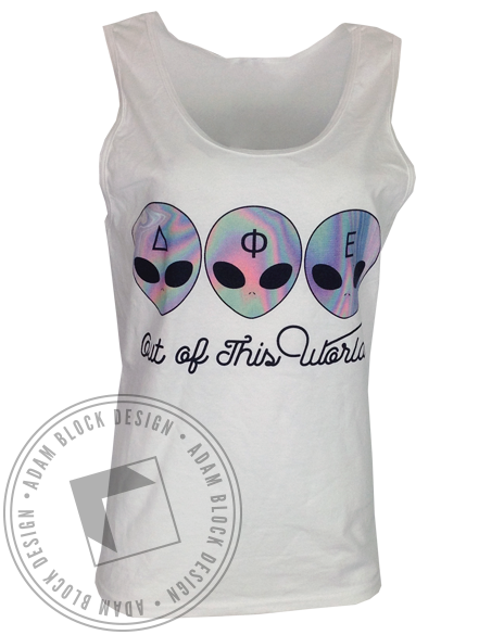 Delta Phi Epsilon Out Of This World Tank-gallery-Adam Block Design