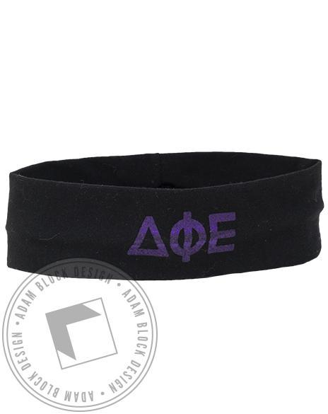 Delta Phi Epsilon Purple Headband-gallery-Adam Block Design