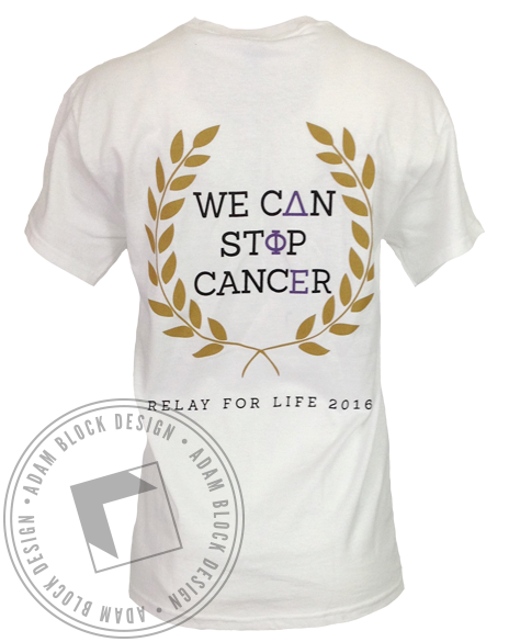 Delta Phi Epsilon Relay For Life Tee-Adam Block Design