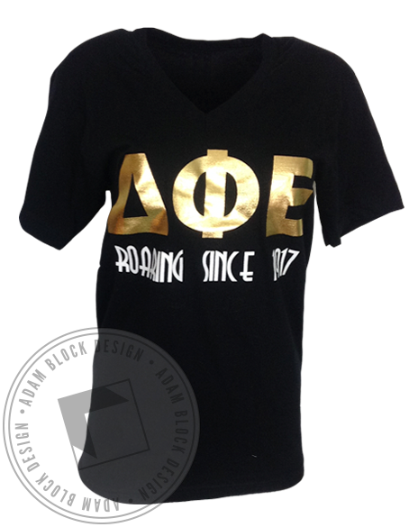 Delta Phi Epsilon Roaring Since 1917 Tee-Adam Block Design