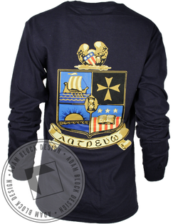 Delta Phi Epsilon Seal Long Sleeve-Adam Block Design