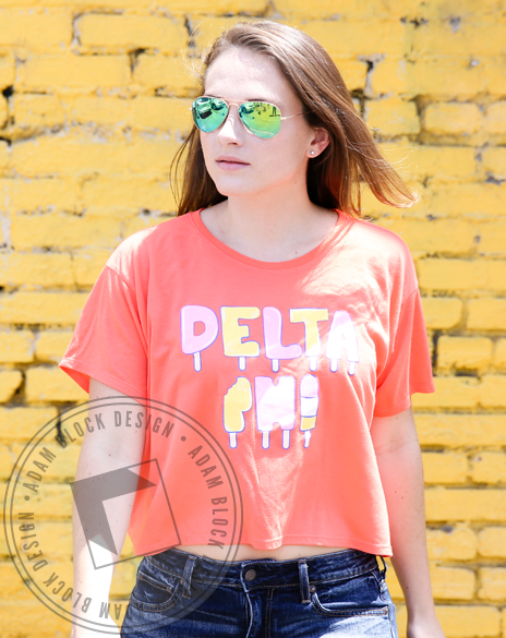 Delta Phi Epsilon Summer Popsicle Tee-Adam Block Design