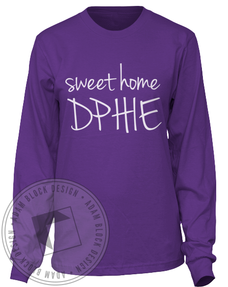 Delta Phi Epsilon Sweet home Longsleeve-gallery-Adam Block Design