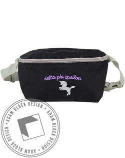 Delta Phi Epsilon Unicorn Fannypack-Adam Block Design