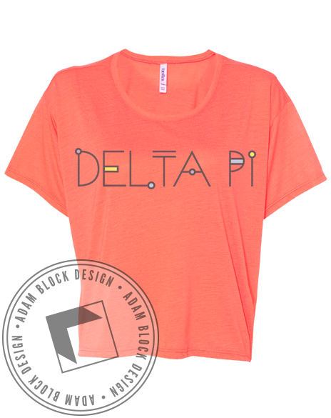 Delta Pi Name Tee-Adam Block Design