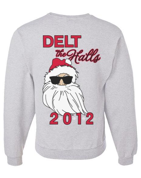 Delta Tau Delta Delt the Halls Sweatshirt-gallery-Adam Block Design