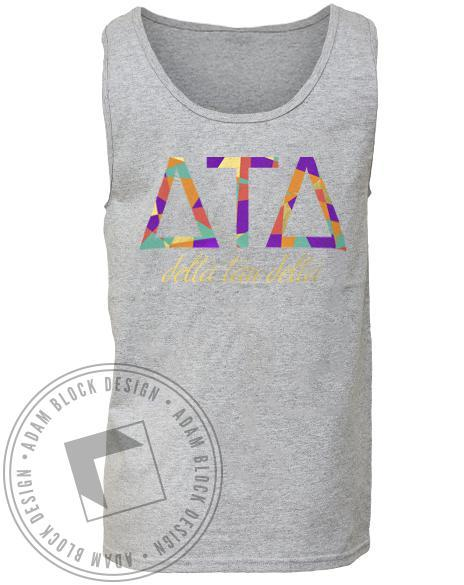 Delta Tau Delta Letter Mountain Tank-Adam Block Design