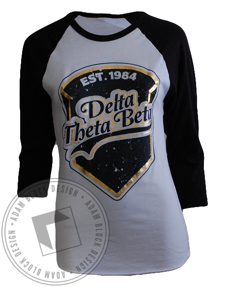 Delta Theta Beta Baseball Tee-gallery-Adam Block Design