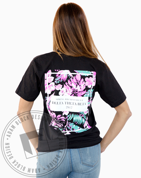Delta Theta Beta Floral Vneck-Adam Block Design