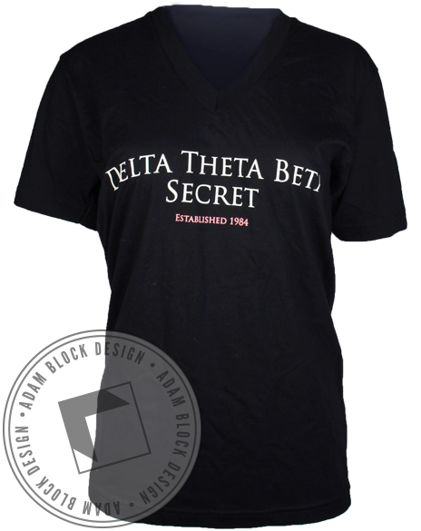 Delta Theta Beta Secret Tee-gallery-Adam Block Design