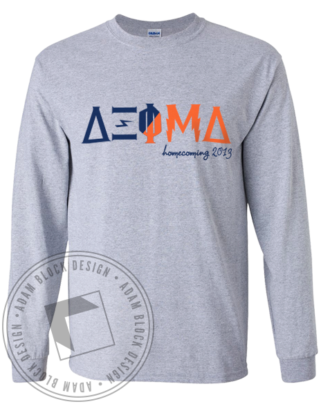 Delta Xi Phi Homecoming Long Sleeve-Adam Block Design
