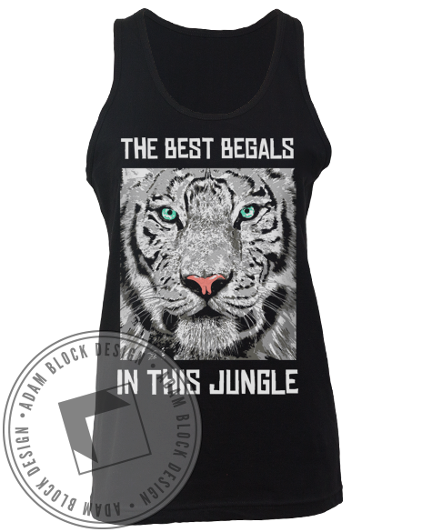 Delta Xi Phi White Tiger Tank-Adam Block Design